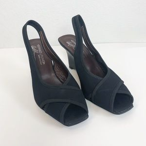 Donald J Pliner Made in Italy peep toe wedges 7.5